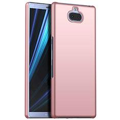 Funda Dura Plastico Rigida Carcasa Mate M01 para Sony Xperia 10 Plus Oro Rosa