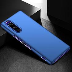 Funda Dura Plastico Rigida Carcasa Mate M01 para Sony Xperia 5 Azul