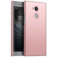 Funda Dura Plastico Rigida Carcasa Mate M01 para Sony Xperia L2 Oro Rosa