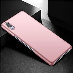 Funda Dura Plastico Rigida Carcasa Mate M01 para Sony Xperia L3 Oro Rosa