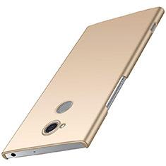 Funda Dura Plastico Rigida Carcasa Mate M01 para Sony Xperia XA2 Oro