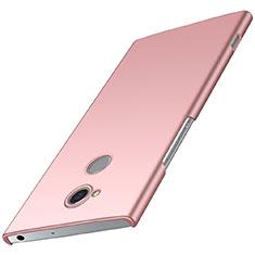 Funda Dura Plastico Rigida Carcasa Mate M01 para Sony Xperia XA2 Oro Rosa