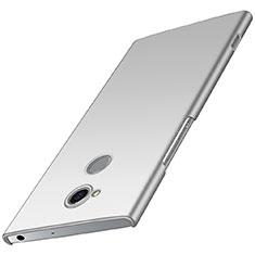 Funda Dura Plastico Rigida Carcasa Mate M01 para Sony Xperia XA2 Plus Plata