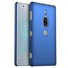 Funda Dura Plastico Rigida Carcasa Mate M01 para Sony Xperia XZ2 Premium Azul