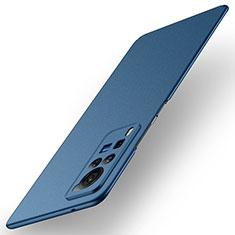 Funda Dura Plastico Rigida Carcasa Mate M01 para Vivo X60 Pro 5G Azul
