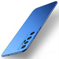 Funda Dura Plastico Rigida Carcasa Mate M01 para Xiaomi Mi 10 Ultra Azul