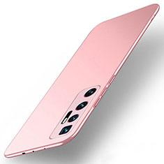 Funda Dura Plastico Rigida Carcasa Mate M01 para Xiaomi Mi 10 Ultra Oro Rosa