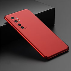 Funda Dura Plastico Rigida Carcasa Mate M01 para Xiaomi Mi Note 10 Lite Rojo