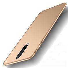 Funda Dura Plastico Rigida Carcasa Mate M01 para Xiaomi Redmi K30 4G Oro