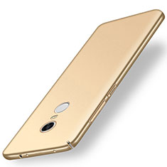Funda Dura Plastico Rigida Carcasa Mate M01 para Xiaomi Redmi Note 5 Indian Version Oro