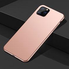 Funda Dura Plastico Rigida Carcasa Mate M02 para Apple iPhone 11 Pro Max Oro