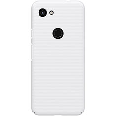 Funda Dura Plastico Rigida Carcasa Mate M02 para Google Pixel 3a Blanco