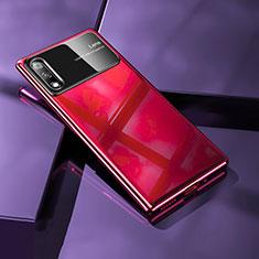 Funda Dura Plastico Rigida Carcasa Mate M02 para Huawei Enjoy 10 Rojo