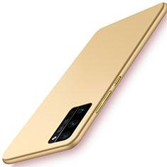 Funda Dura Plastico Rigida Carcasa Mate M02 para Huawei Honor 30 Pro Oro