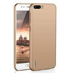 Funda Dura Plastico Rigida Carcasa Mate M02 para Huawei Honor 6 Plus Oro