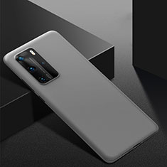 Funda Dura Plastico Rigida Carcasa Mate M02 para Huawei P40 Pro Gris