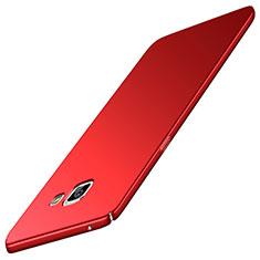 Funda Dura Plastico Rigida Carcasa Mate M02 para Samsung Galaxy A5 (2016) SM-A510F Rojo