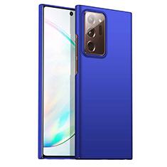 Funda Dura Plastico Rigida Carcasa Mate M02 para Samsung Galaxy Note 20 Ultra 5G Azul