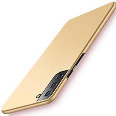 Funda Dura Plastico Rigida Carcasa Mate M02 para Samsung Galaxy S21 5G Oro