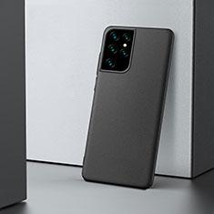 Funda Dura Plastico Rigida Carcasa Mate M02 para Samsung Galaxy S21 Ultra 5G Negro