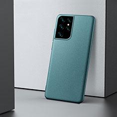 Funda Dura Plastico Rigida Carcasa Mate M02 para Samsung Galaxy S21 Ultra 5G Verde Noche