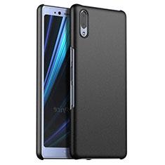 Funda Dura Plastico Rigida Carcasa Mate M02 para Sony Xperia L3 Negro