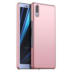 Funda Dura Plastico Rigida Carcasa Mate M02 para Sony Xperia L3 Oro Rosa