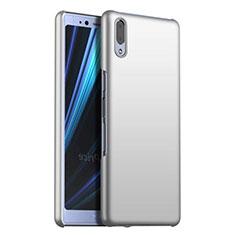 Funda Dura Plastico Rigida Carcasa Mate M02 para Sony Xperia L3 Plata