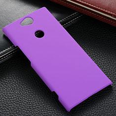 Funda Dura Plastico Rigida Carcasa Mate M02 para Sony Xperia XA2 Plus Morado