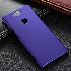 Funda Dura Plastico Rigida Carcasa Mate M02 para Sony Xperia XA2 Ultra Azul