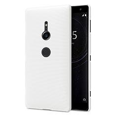 Funda Dura Plastico Rigida Carcasa Mate M02 para Sony Xperia XZ2 Blanco