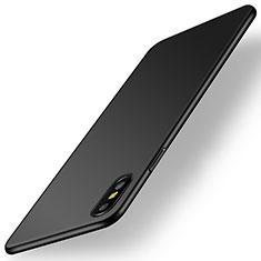 Funda Dura Plastico Rigida Carcasa Mate M15 para Apple iPhone Xs Negro