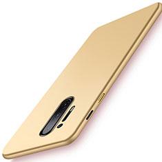 Funda Dura Plastico Rigida Carcasa Mate P01 para OnePlus 8 Pro Oro