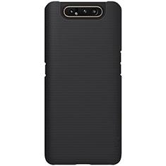 Funda Dura Plastico Rigida Carcasa Mate P01 para Samsung Galaxy A80 Negro
