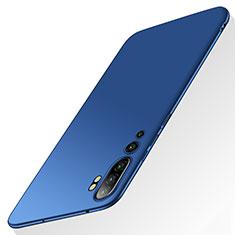 Funda Dura Plastico Rigida Carcasa Mate P01 para Xiaomi Mi Note 10 Azul