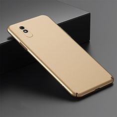 Funda Dura Plastico Rigida Carcasa Mate P01 para Xiaomi Redmi 9i Oro