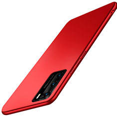 Funda Dura Plastico Rigida Carcasa Mate P02 para Huawei P40 Rojo