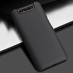 Funda Dura Plastico Rigida Carcasa Mate P02 para Samsung Galaxy A80 Negro