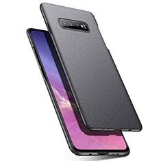 Funda Dura Plastico Rigida Carcasa Mate P02 para Samsung Galaxy S10 Gris Oscuro