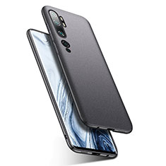 Funda Dura Plastico Rigida Carcasa Mate P02 para Xiaomi Mi Note 10 Gris Oscuro