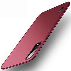 Funda Dura Plastico Rigida Carcasa Mate P03 para Oppo Find X2 Pro Rojo Rosa