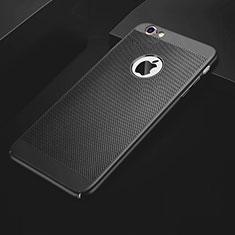 Funda Dura Plastico Rigida Carcasa Perforada para Apple iPhone 6 Negro