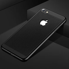 Funda Dura Plastico Rigida Carcasa Perforada para Apple iPhone 7 Negro