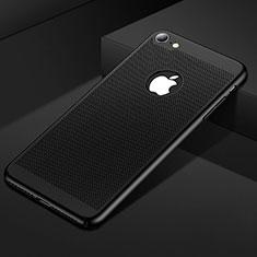 Funda Dura Plastico Rigida Carcasa Perforada para Apple iPhone SE (2020) Negro