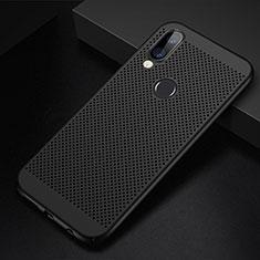 Funda Dura Plastico Rigida Carcasa Perforada para Huawei P20 Lite Negro