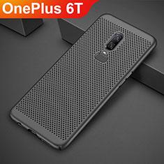 Funda Dura Plastico Rigida Carcasa Perforada para OnePlus 6T Negro