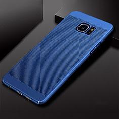 Funda Dura Plastico Rigida Carcasa Perforada para Samsung Galaxy S7 Edge G935F Azul