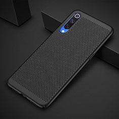 Funda Dura Plastico Rigida Carcasa Perforada para Xiaomi Mi 9 Pro Negro