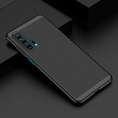 Funda Dura Plastico Rigida Carcasa Perforada W02 para Huawei Honor 20 Pro Negro