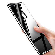Funda Dura Plastico Rigida Espejo M01 para Apple iPhone 8 Plus Negro